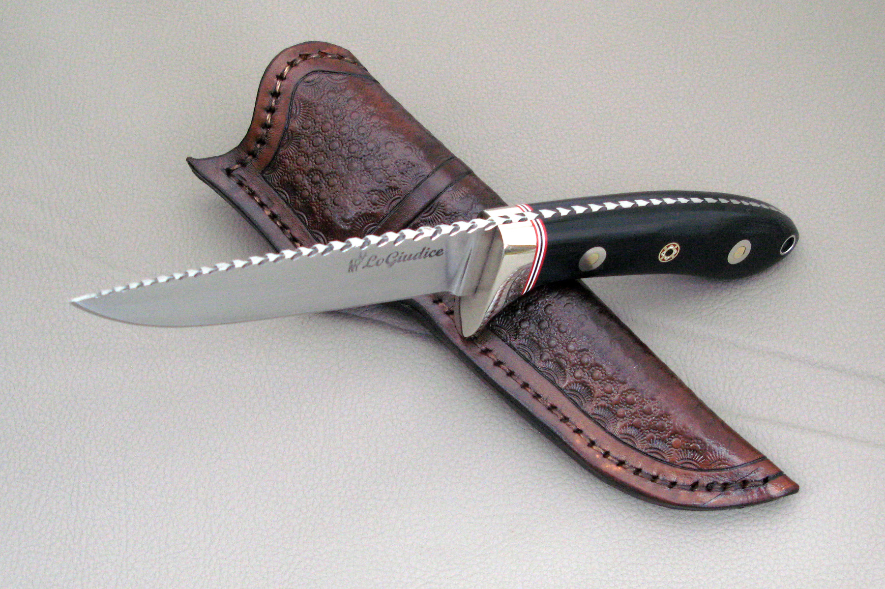 Logiudice Custom Knives Gallery Knife 0034 Drop Point