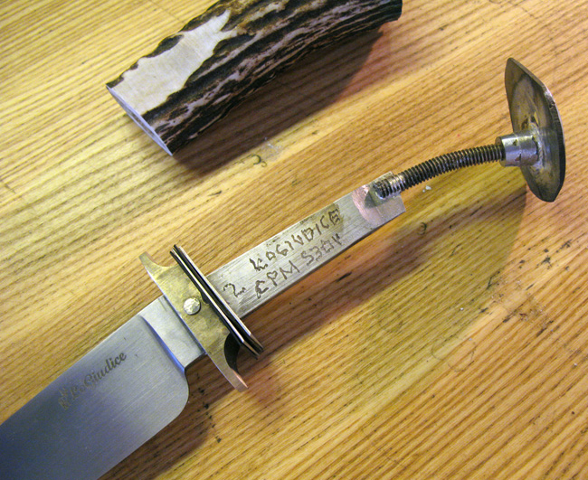 How To Make A Through Tang Handle Knife